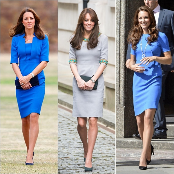 Vários modelos de vestidos da Kate Middleton para copiar