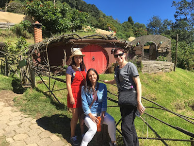 three women at Hobbitenango Guatemala