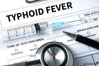 typhoid symptoms