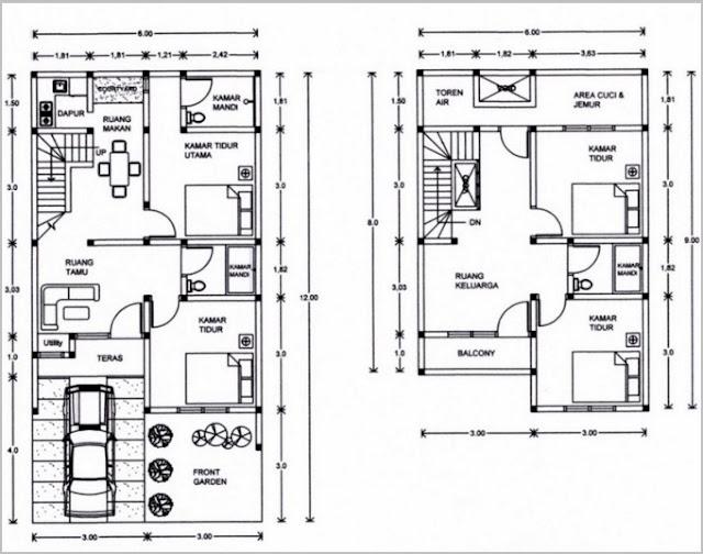 Desain Rumah Minimalis Modern Tipe 36 Dengan 2 Lantai Terbaru 2016