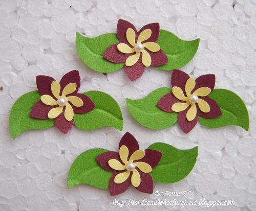 Paper Punch Flowers Craft