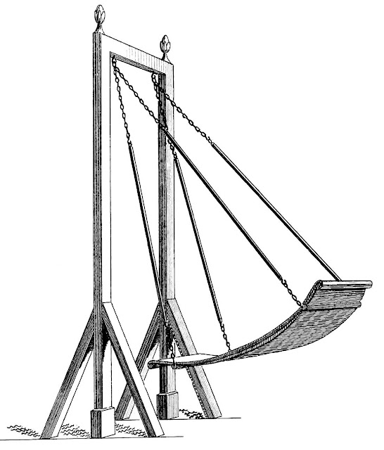 an 1843 amusement ride illustration from a news publication