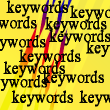 text keywords in yellow background