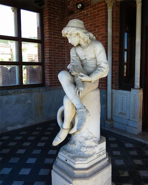 Colombo giovinetto, The Boy Columbus by Giulio Monteverde, Castello D'Albertis, Genoa