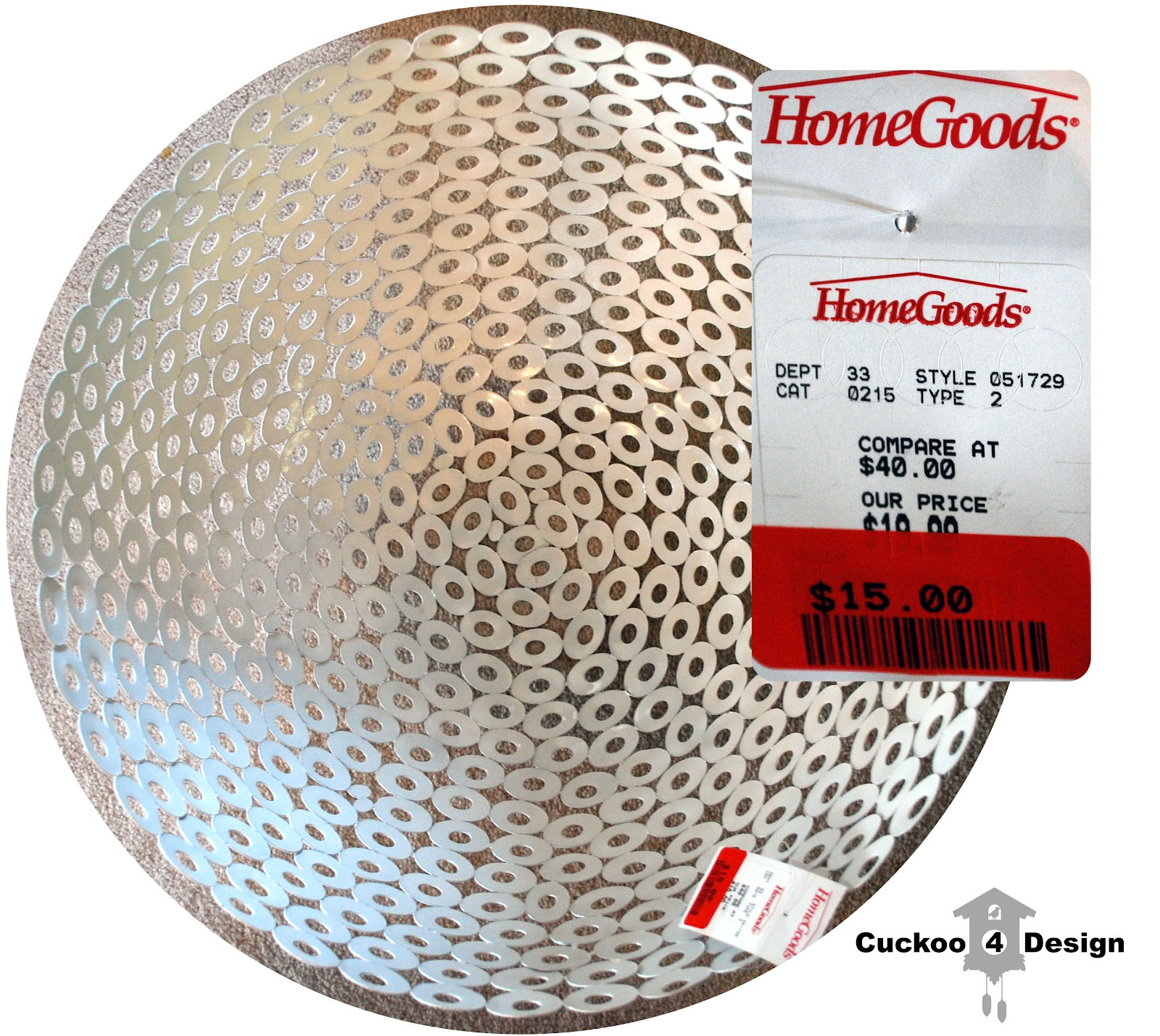 15 HomeGoods clearance bowl converted to ceiling fixture. HomeGoods clearance bowl as DIY ceiling fixture   Cuckoo4Design