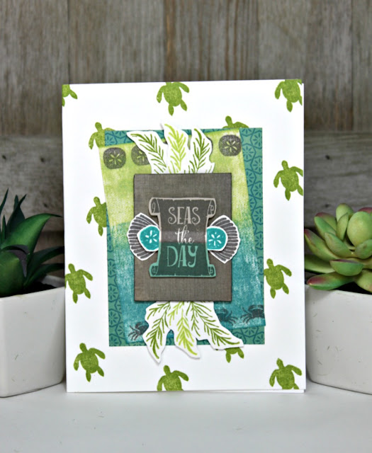 Seas the Day Hampton Art Clear Stamps - New. SC0823