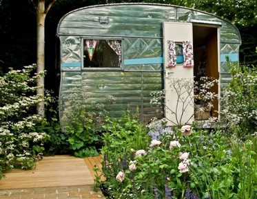 Jardín Jo Thompson en Chelsea 2012. Celebration of Caravanning
