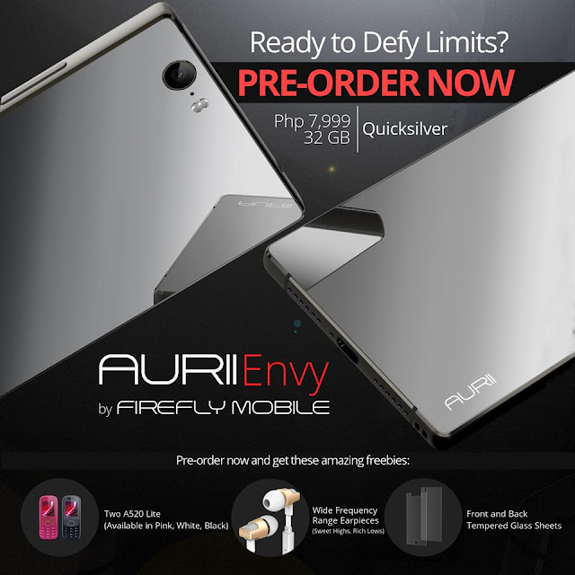Firefly Mobile AURII Envy Flagship Unveiled, Boasts 3GB RAM, Android Marshmallow, Offers PHP 500 Discount for Pre-orders