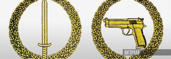 Нагрудні знаки до відзнак Міністерства оборони України Вогнепальна зброя і Холодна зброя