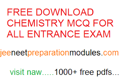 [PDF] DOWNLOAD CHEMISTRY MCQ FOR ALL ENTRANCE EXAM |JEE NEET PREP|