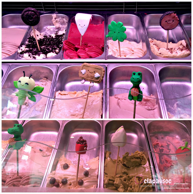 The Bunny Baker Cafe gelato flavors