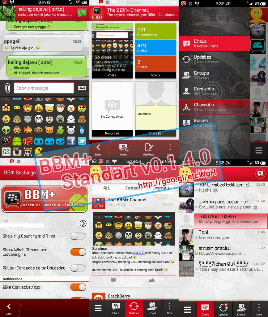 Download BBM+ Mod Android Terbaru 2014 Update February