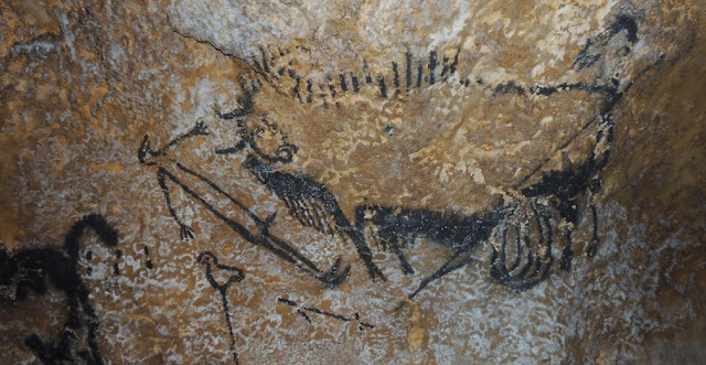Some of the world's oldest cave paintings have revealed how ancient people had relatively advanced knowledge of astronomy. Animal symbols represent star constellations in the night sky, and are used to mark dates and events such as comet strikes, analysis from the University of Edinburgh suggests. Credit: Alistair Coombs
