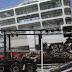 Βγάζουν τις καμένες νταλίκες από το «Βενιζέλος» -Εικόνες καταστροφής