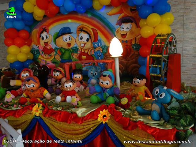 Mesa temática Turma da Mônica - Decoração tradicional luxo