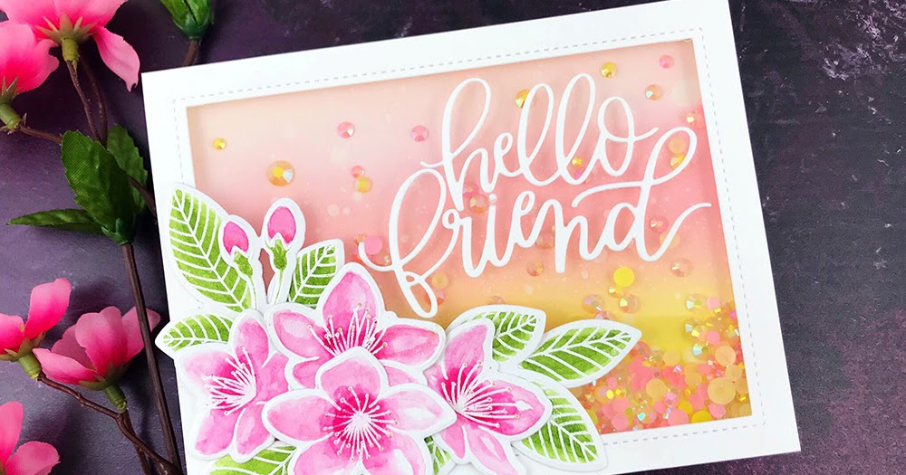 Handcrafted Cards Made With Love: Pretty Pink Posh   Hello Friend Shaker  Card