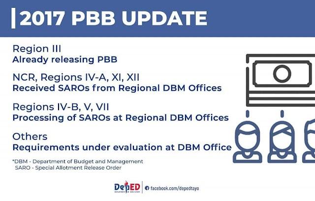 PRESS RELEASE: DepEd starts releasing PBB 2017