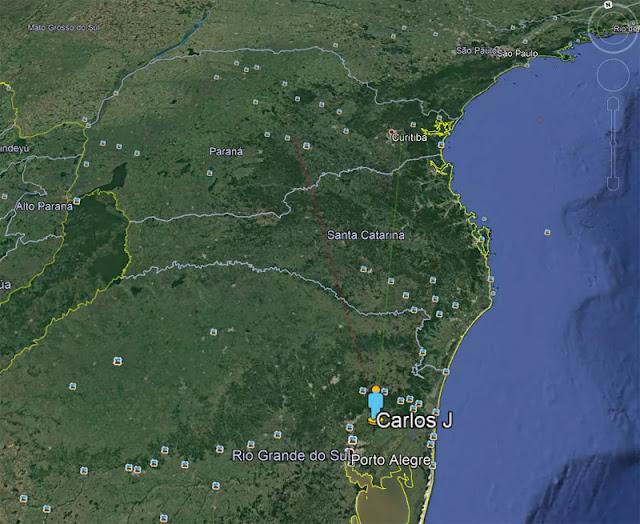 bólido reportado do Rio Grande do Sul - Taquara - EXOSS