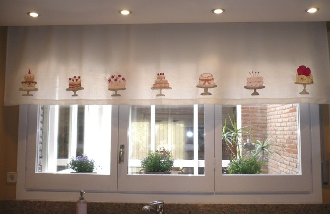 Alba hogar desde tu ventana de la cocina for Cortinas de tela para cocina