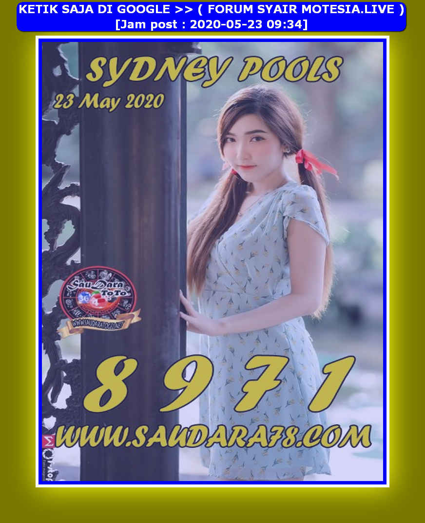 Kode syair Sydney Sabtu 23 Mei 2020 235