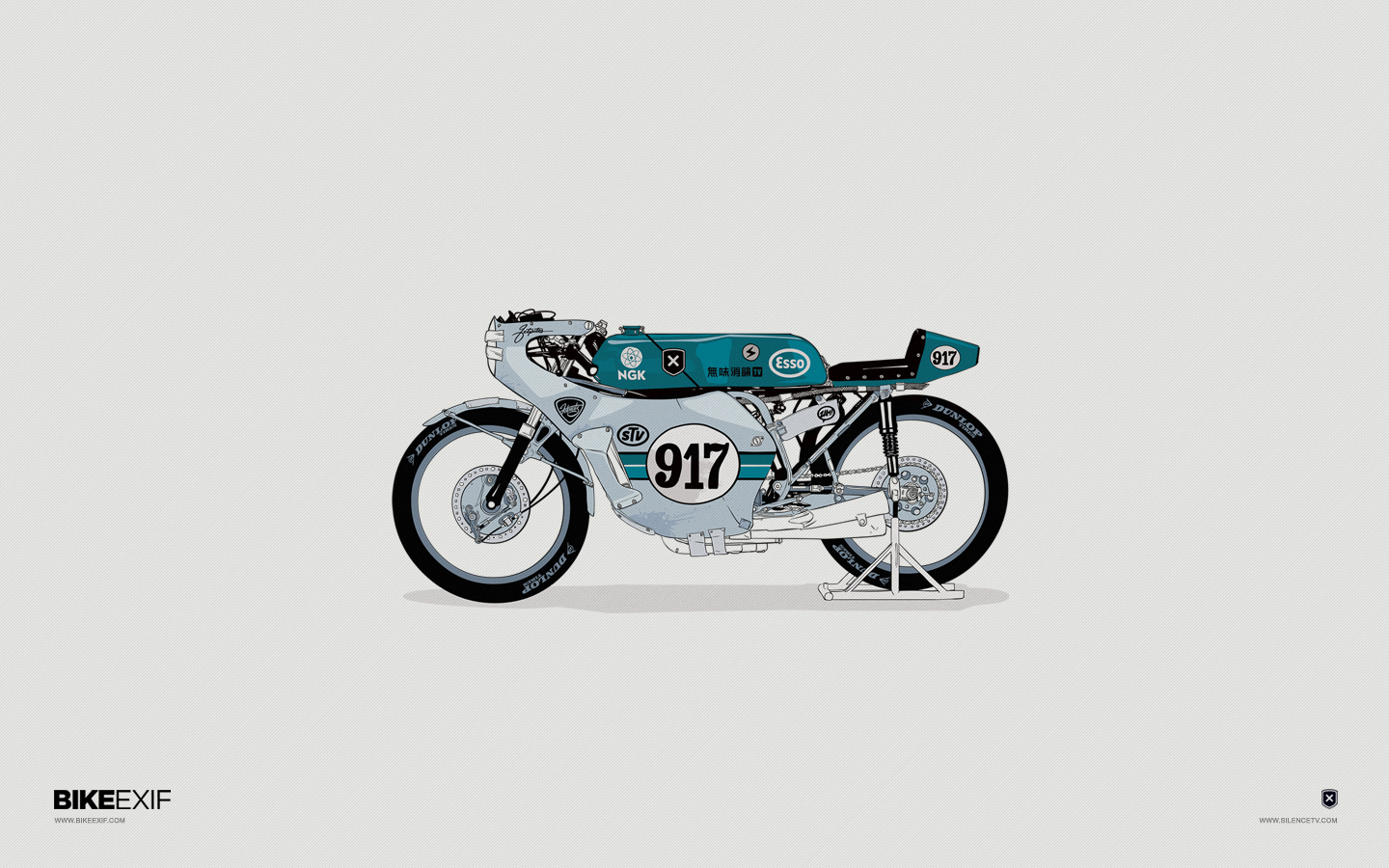 Moto-Mucci: INTERWEB GOODS: bike exif illustrated wallpapers