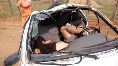 Homem fica ferido, vítima de capotamento no município de Piritiba