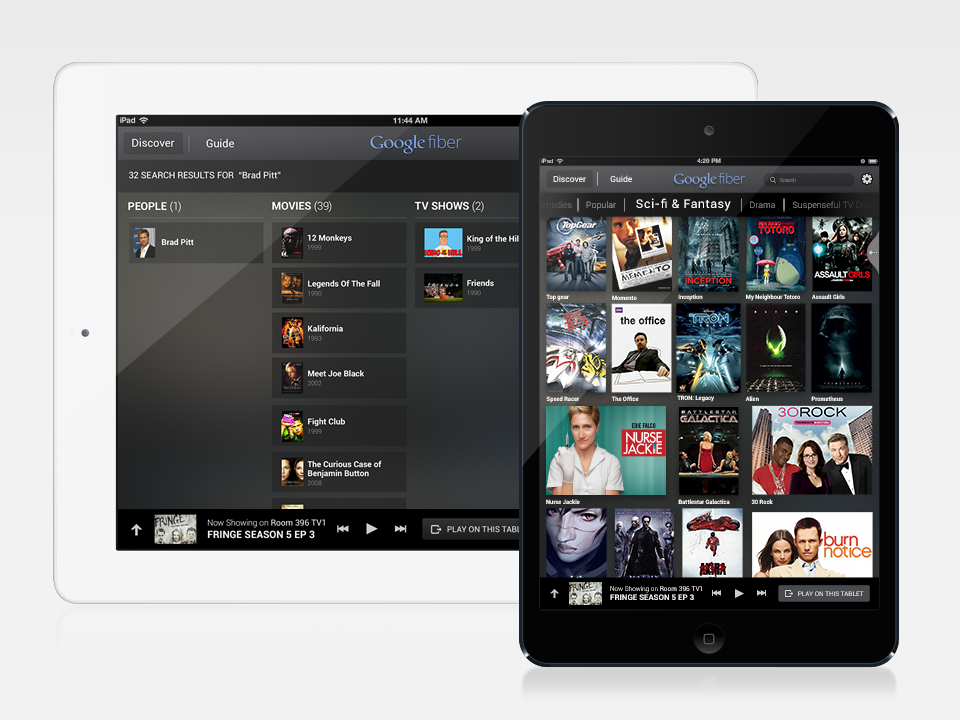 Google Fiber TV App for iPad