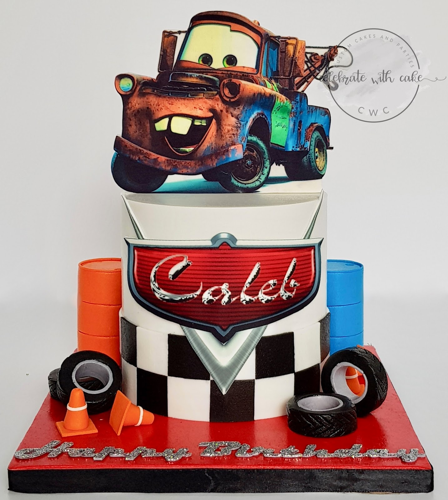 Celebrate With Cake Tow Truck
