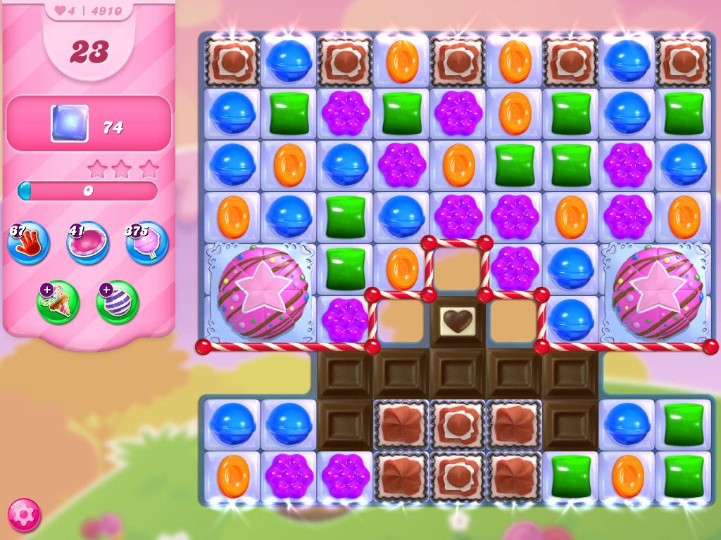 Candy Crush Saga level 4910
