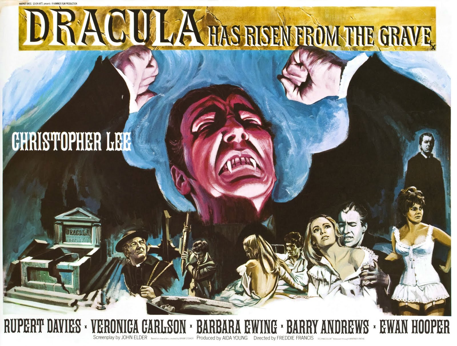 Christopher Lee in the Movie: Dracula Has Risen from the Grave, 1968