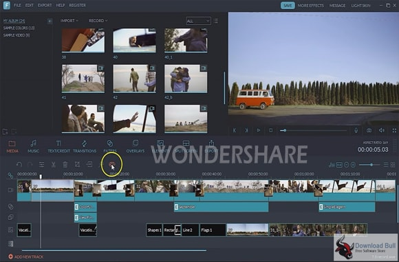 perangkat lunak video editing wondershare filmora