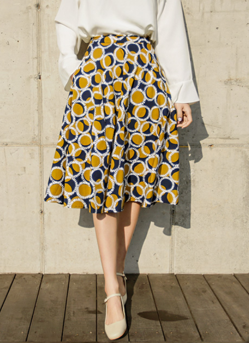 09Women Polka Dot 50s Skirt