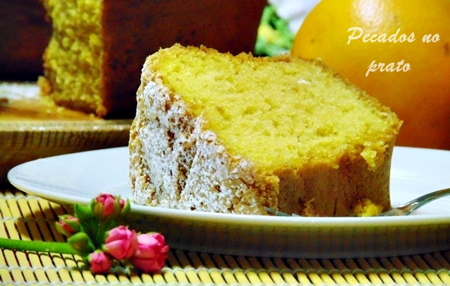 Receita do bolo chiffon de laranja