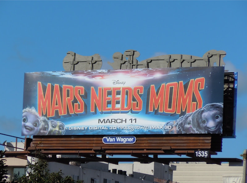 Mars Needs Moms Disney billboard