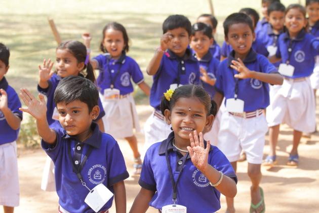 School kids at Hampi, Karnataka, India
