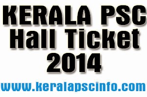 Kerala PSC Lecturer in Physics Hallticket 2014