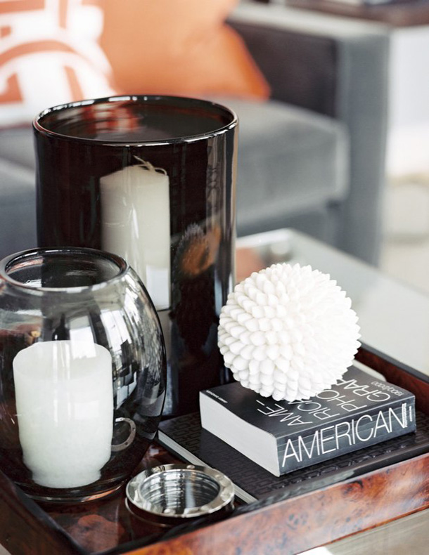 being lovely: coffee table styling