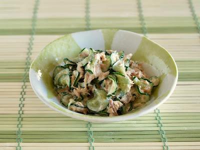 5 MIN Cucumber Tuna Mayo Salad