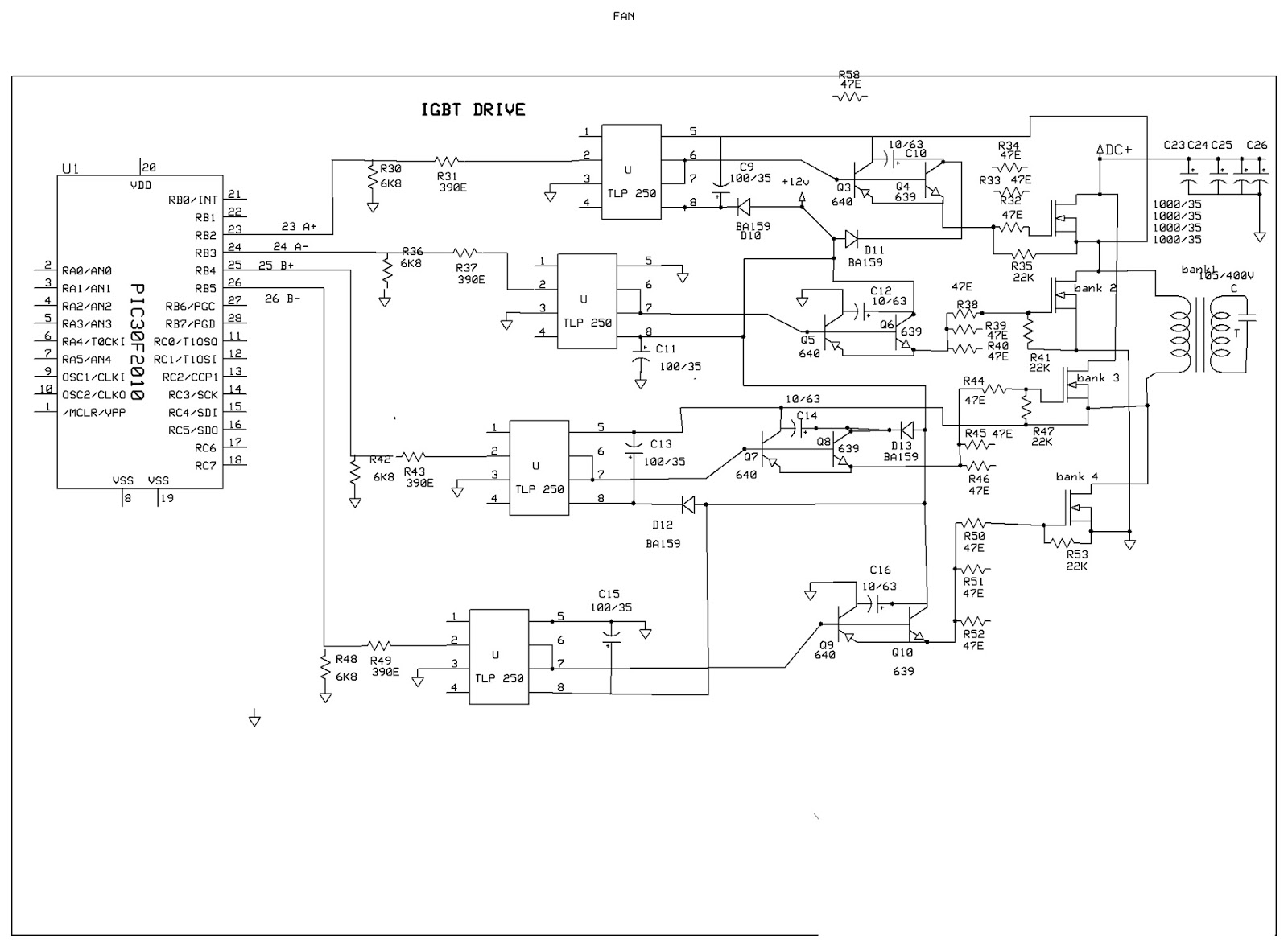 Dsp30f2010 Sine Wave Tech Connected Inverter For The Full Bridge Circuit I Planned To Dsp Board Design