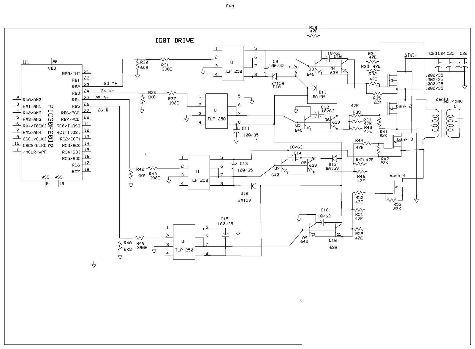 Dsp30f2010 Sine Wave Tech Dspic Sinewave Inverter 12v Wiring Diagram Testing Of The Board