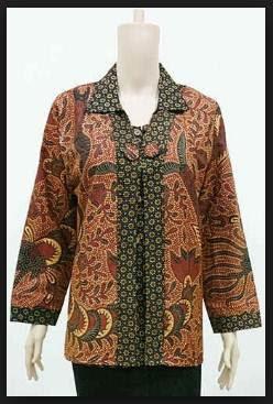 Desain model baju kerja batik wanita