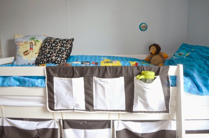 pirate kids room, noa and nani, pirate mid sleeper bed, pirate tent bed
