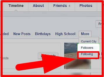 how to see who all you are following on facebook