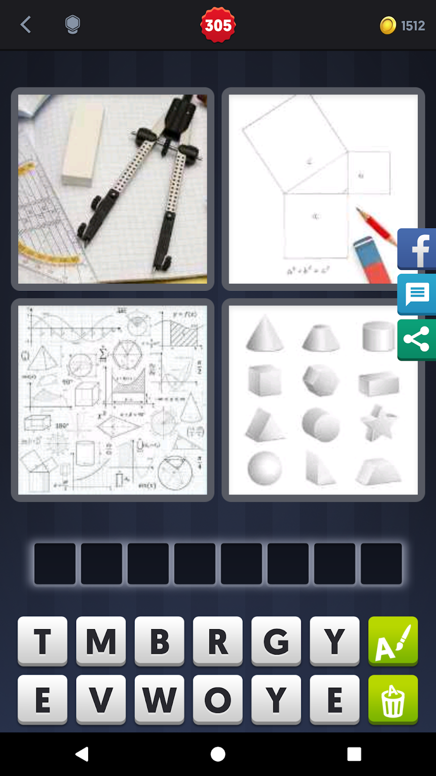 4 Pics 1 Word Answers Solutions Level 305 Geometry