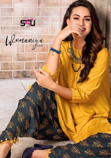 S4U Womaniya vol 10 Party wear kurtis With Plazzo Wholesale