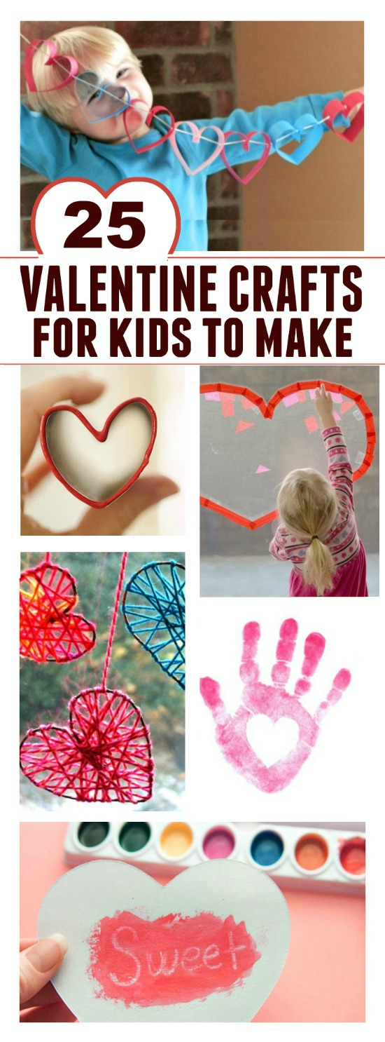 25 Valentine's crafts for kids to make- such cute ideas!