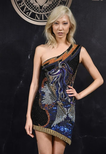 Korean model Soo Joo Park red carpet dresses photos