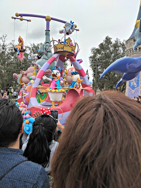 Celebrating my Birthday at the Magic Kingdom - Magic Kingdom Parade - Donald and Daisy
