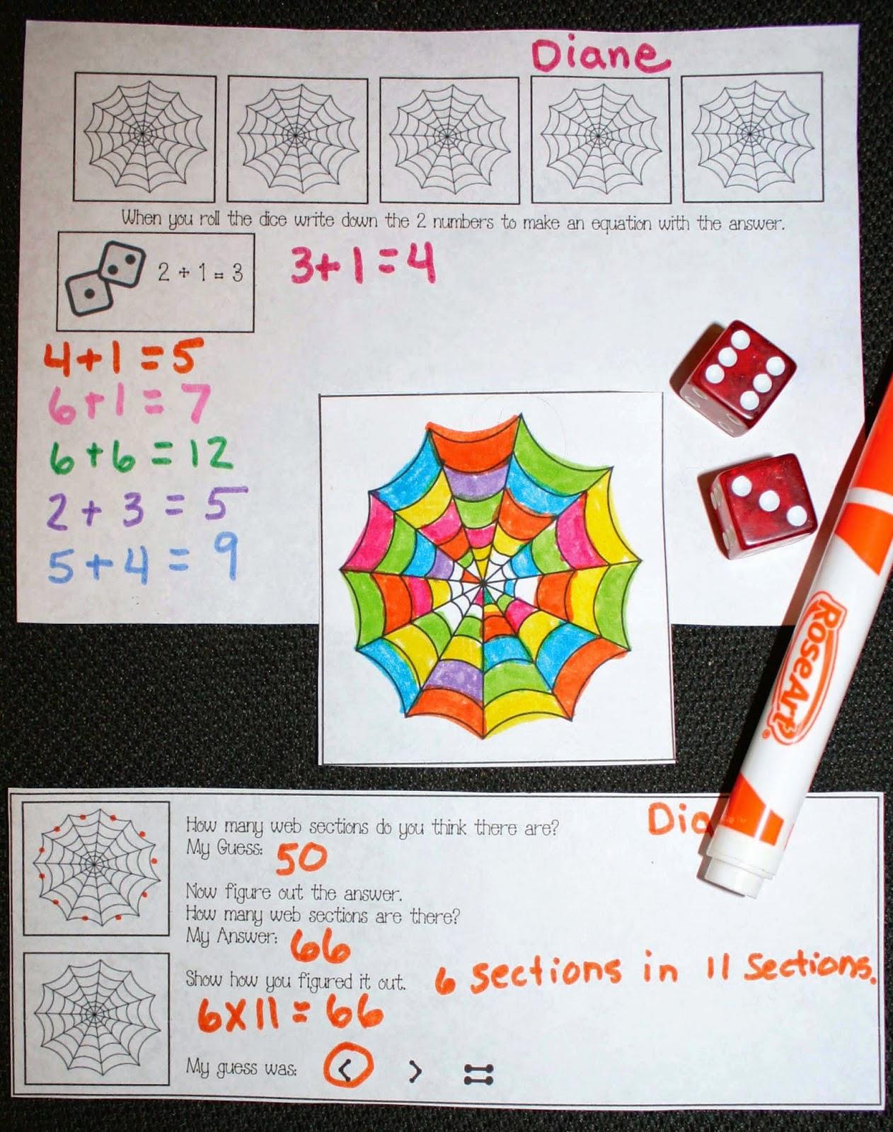 Classroom Freebies Spin A Web Math Game
