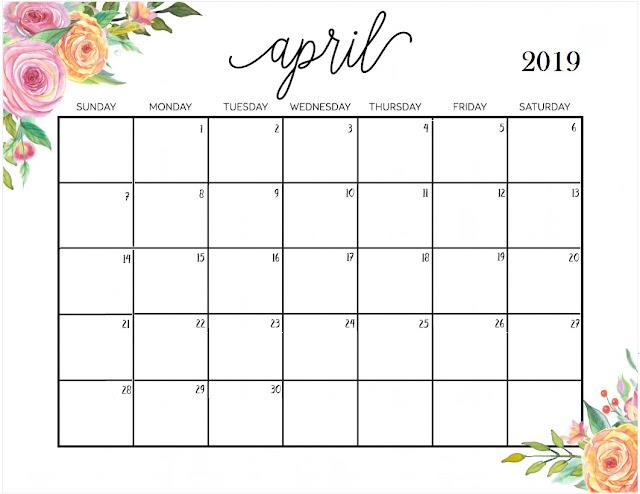 picture regarding April Calender Printable named april calendar for 2019 -
